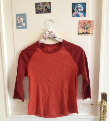 Narancssárga-bordó H&M pulóver