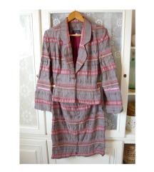 ✿ Újsz. fiatalos kosztüm szett (kabát+szoknya)