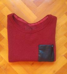 Esprit bordó kötött pulcsi XS-S