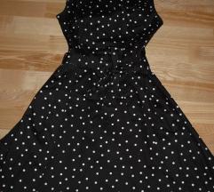 Orsay fekete fehér öves pöttyös nyári ruha 34-es