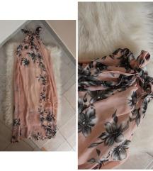 Gyönyörű pasztell virágos maxiruha