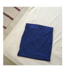 NEW YORKER kék csillámos mini ruha