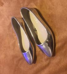 Ezüst mirror fényes topánka balerína