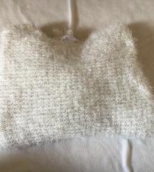 Eladó fehér csillámos pulcsi