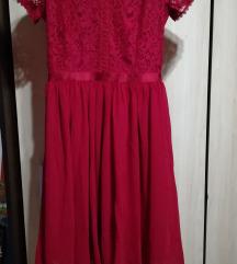 Új Bordó csipkés ruha