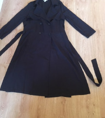 40-es H&M hosszú oldalt felsliccelt kabát