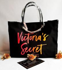 Új Eredeti Victoria's Secret Black Tote táska