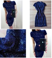Kék csipkés alkalmi ruha