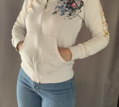 Ed Hardy mintás fehér pulóver