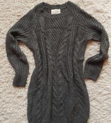 Szürke hosszú pulóver, pulcsiruha