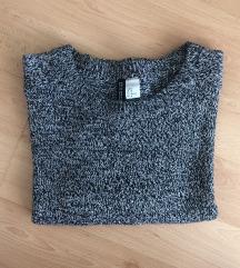 Fekete fehér kötött pulcsi