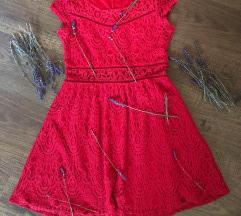 Gyönyörű Csipkés Piros Ruha