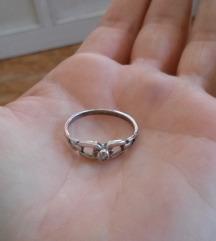 Köves gyűrű 925 ezüst 18 mm (csere is)