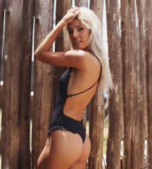 Fekete új bikini egyberészes