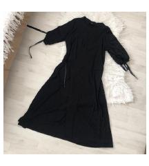 H&M fekete átlapolós ruha