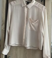 H&M áttetsző fáradt rózsaszín ing