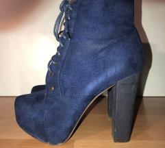 Kék platform zárt cipő