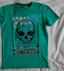 Zöld koponyás fiú póló