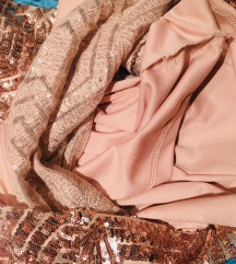 Gyönyörű szép Rosegold koktél ruha