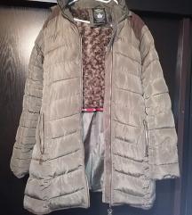 Újszerű, barna női téli kabát
