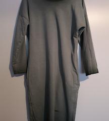 Oversize zöld színátmenetes divatos pulcsi