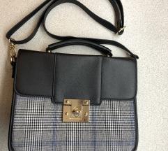 Kockás középméretű szupercsinos retro táska