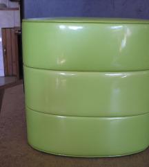 Dior zöld lakk neszeszer, doboz