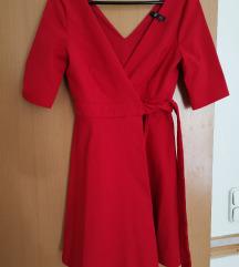 Új zara piros kötős ruha menyecskeruha