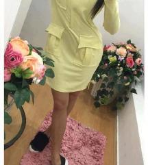 ÚJ Ashbury pasztell sárga ruha S/M