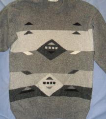 XL - Mintás szürke női pulcsi, pulóver