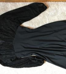 Különleges csipke fekete koktél ruha