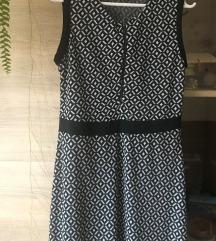 Egyberészes mintás ruha (40-es)