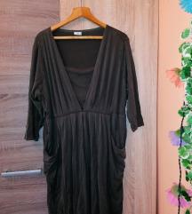 M&S, keki, hosszú ujjú, dizányos ruha, XL-es