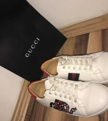 Gucci 37 Snake embroidered copy cipő bőr