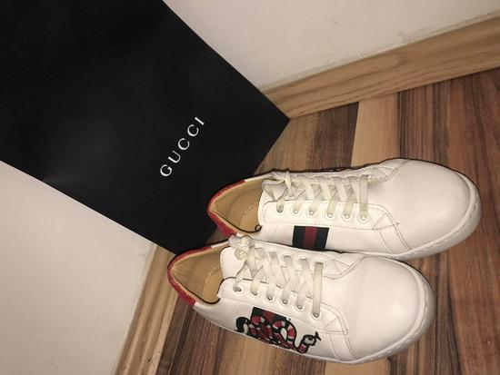 Gucci 37 Snake embroidered copy cipő bőr