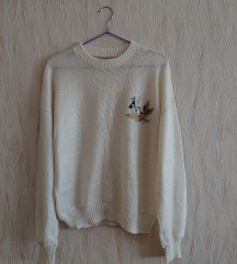 hímzett kötött pulcsi