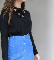 Masnis fekete póló, blúz