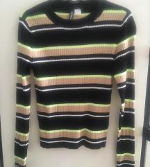 Csíkos HM pulóver