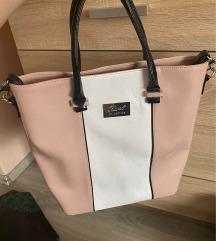 Karen púder fehér lakk táska
