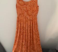 Narancs mintás vintage ruha
