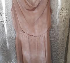 Amisu barna virágdíszes ruha(ingyen posta
