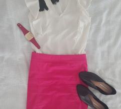 Pink vászon ceruzaszoknya
