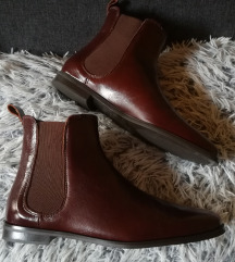 Új Zara Chocolate Leather Boots