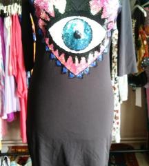 Fekete sztreccs ruha