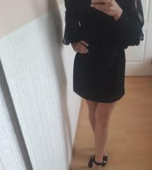 Leopárdmintás fekete mini ruha 34