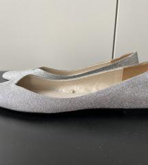 Zara ezüst csilllámos balerina