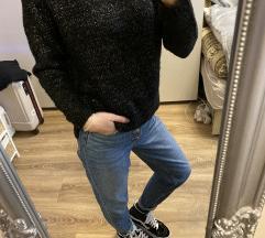 Ezüstszálas kötött pulcsi
