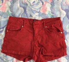 Piros színű rövidnadrág