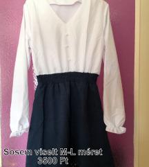 Fehér-sötétkék ruha