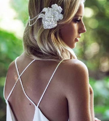 ZARA esküvői koszorúslány tengerparti maxi ruha S